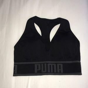 Puma black sports bra